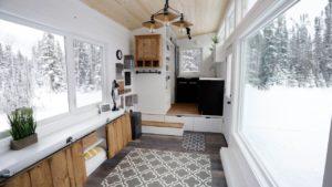 Otevřený koncept moderní malý dům s výtahem #anawhite