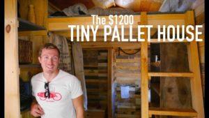 1200 $ 14 & # 39; Malý dům z paletového dřeva!