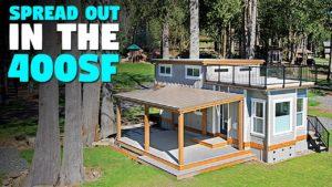 400 m² ft malý dům s širokým otevřeným půdorysem