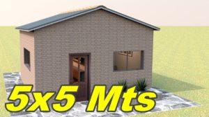 5x5 plán domu - malý dům - plán malého domu