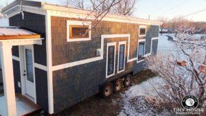 8FT Drobeček s ložnicí a vanou v přízemí Životní Design Pro Malý Dům