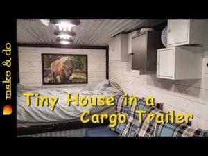 Awesome Tiny House Postavený v nákladním přívěsu - Tour