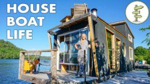 Bydlení na 4 sezonním hausbotu - krásný plovoucí malý domeček!