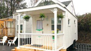 Krásný moderní Bílý domek Malý domek Krásný malý dům
