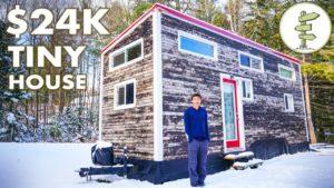 Mladý muž staví malý domek $ 24 000 + zážitek a prohlídka zimního života