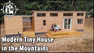 Moderní malý domov se rozšiřuje do venku a spí 6!