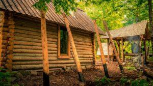 Off Grid Log Přidání domů | Renovace drobného domu pomocí ručních nástrojů