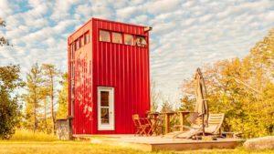 Ohromující krásný dům The High Red Tiny House nedaleko Belleville Ontario Životní Design Pro Malý Dům