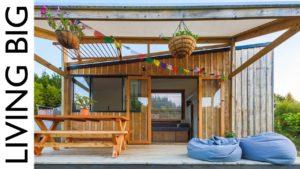 Olympijský atlet a výrobce nábytku staví krásný malý domov