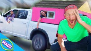 Přežít v malém domku kamionu !! * Výzva pro rychlé občerstvení! *