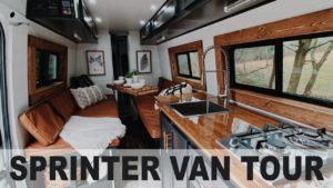Převodovka Mercedes Benz Sprinter Van | Plná koupelna | Drobný domov na kolech se solárním pohonem!