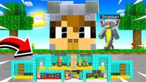 Postavil jsem TINY PODROBNÝ TAJEMSKÝ MANSION uvnitř mého FRIEND SLOGOMAN & HOUSE v MINECRAFT!