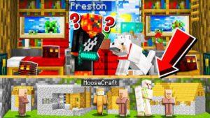 Postavil jsem TINY PODROZENOU TAJEMNOU VILLÁŽU v PrestonPlayz Minecraft House!