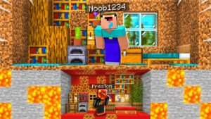 Postavil jsem dům TINY pod domem Minecraft Noob1234!