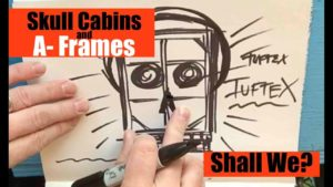 Pouštní SKULL CABIN a Micro A FRAME (malé koncepty domu / kabiny)