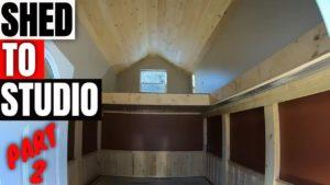 Proměním kůlny na You tub studio domácí kancelář malý dům část 2 #construction #mancave #studio