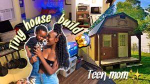 Teen žije v TINY HOUSE s jednoročním synem! || Bouda na maličký domov