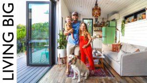 Televizní interiérový designér vlastní barevný malý domeček