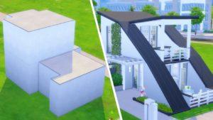 Tuto skříňku jsem proměnil v moderní malý dům v The Sims 4 (Shell Challenge)