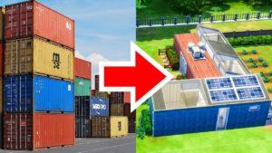 Udržitelný malý domov v přepravních kontejnerech! (Sims 4)