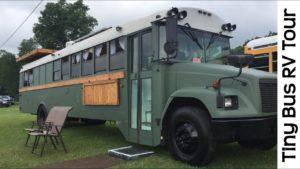 Velkolepá prohlídka malé školy školní autobus RV převod Camper