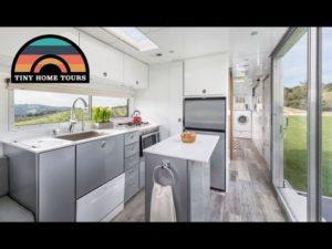 Vlastní cestovní přívěs Malý dům - Výtah Bed & Fold Down Patio