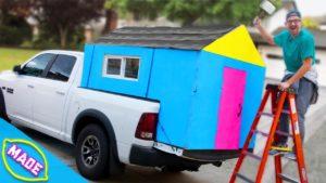 Vyrobili jsme Drobný dům v loži kamionu J-Freda !!
