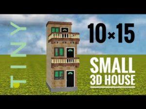 10 by 15 3d malý dům plán od domácího plánu Prems🔥 | 10 by 15 domácí plán
