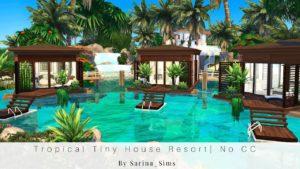 Tropické Tiny House Resort   Žádné CC   Zastavení pohybu   The Sims 4