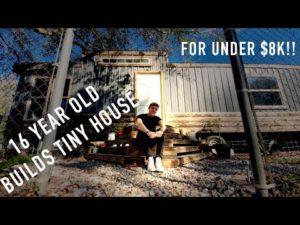 16 LET OLD BUILDS TINY DŮM ZA 8 000 $ !!!