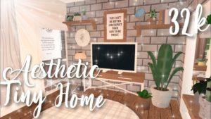 32k Aesthetic Tiny Home | Bloxburg Mobile Speedbuild