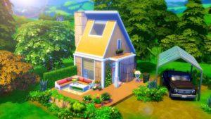 ANGULAR TINY HOUSE // Sims 4 Speed Build