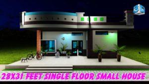 Design domu 28x31 Feet Tiny House, pro jednu rodinu    Malý dům pro malou rodinu.