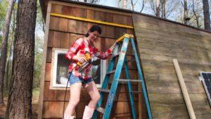 Instalace 100 let staré Cedar vlečky na můj malý dům