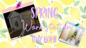 Jarní pracovní stanice Tiny Home! ~ Bloxburg Speed build!