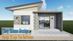Malý dům Design 50 m2 / dvě ložnice. Sledujte nyní !!!