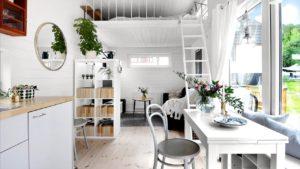 Malý dům ve Stockholmu, nápady na design interiéru