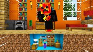 Noob1234 Postavený dům TINY pod domem Prestona! (Minecraft)