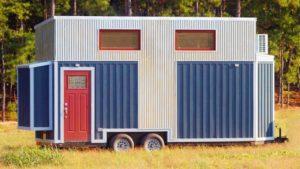 Ohromující krásná modrá Belle od Bear's Tiny Homes | Životní Design Pro Malý Dům