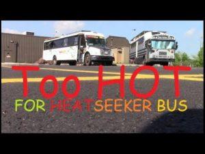 Příliš horká! Jdeme na sever ... - Převod tepla na autobus. malý domov RV skoolie.