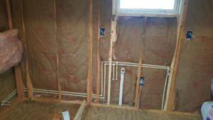 Přístřešek do domu TINY HOME kuchyně a sprchy instalatérské HOTOVO