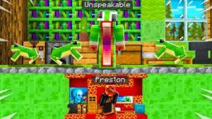 Postavil jsem tajný dům TINY pod nevýslovným! - Minecraft
