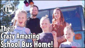 Rodiče zmenšili velikost školní autobusové domácnosti s 3 dětmi + mobilním salonem