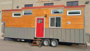 Rustikální krásný Cape Cod od Alpine Tiny Homes Životní Design Pro Malý Dům