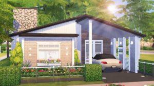 SCANDINAVSKÝ TINY DŮM 🖤 | The Sims 4 | Rychlost sestavení