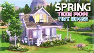 SPRING TEEN MOM TINY HOUSE 🌷 | The Sims 4 | Rychlost sestavení (bez CC)
