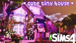 The Sims 4 | ✨🌸 CUTE TINY HOUSE🌸✨ | NA SKRYTÉM MÍSTĚ | ŽÁDNÝ CC + STÁHNOUT #SpeedBuild