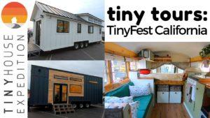 Tiny Home Tours @ TinyFest Kalifornie: Skoolie, THOW, Prefab