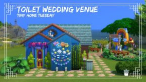 Tiny Home Tuesday WC svatební místo (zastavení pohybu) The Sims 4