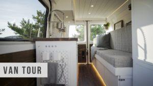 VAN TOUR | Micro Sprinter Tiny Home na kolech Převod nízkého rozpočtu na kutily